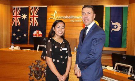 Iesha, Kayesha & Zahraa receive Campbelltown Council's WSU Scholarships