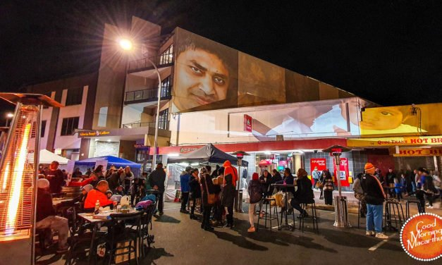 Celebrating Ingleburn by night