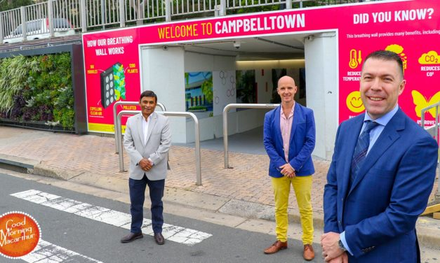 Campbelltown gets its first Breathing Wall