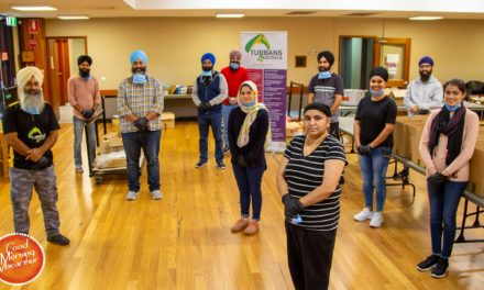 Turbans 4 Australia pump out over 250 meals a day to feed those doing it tough