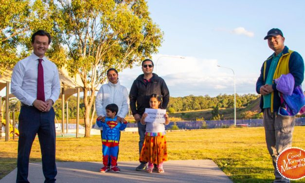 Macquarie Fields State MP Anoulack Chanthivong gets behind residents' demands for a public school in Edmondson Park