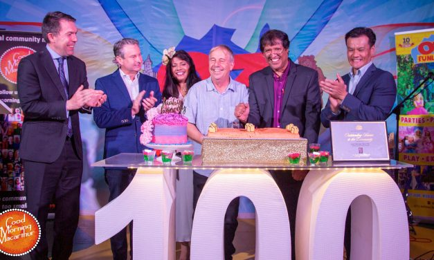 Macarthur community comes out in strength to celebrate 100 episodes of Good Morning Macarthur